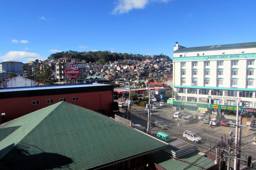 Blick aus dem Hotel in Baguio
