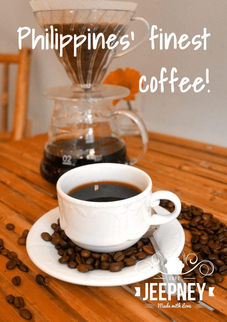 Handgebrühter philippinischer Kaffee: Kape Barako